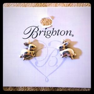 Brighton Bunny Earrings in Silver Tone